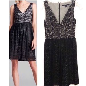 French Connection lace overlay black dress 181